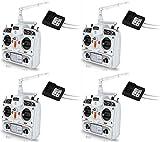 4 x Quantity of Walkera E-Eyes Devo 10 Transmitter & DEVO RX1002 Receiver Combo