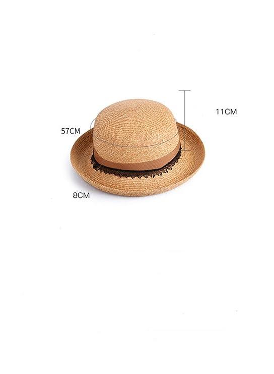 yuan yuan Sombrero de señoras Sombreros de Playa de Primavera y Verano  Decorados Sombreros de Moda Sombreros de Boda de Sombrero y Sombreros de  Sol 0f99a0a8eb7