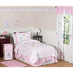 Sweet Jojo Designs 4-Piece Ballet Dancer Ballerina Children's Girls Twin Bedding Set