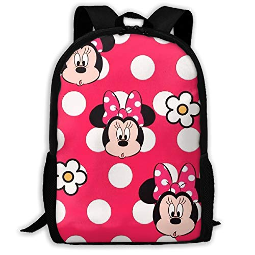 LIUYAN Custom Minnie Mouse with Flower Casual Backpack School Bag Travel Daypack -