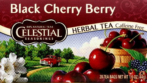 Celestial Seasonings Herb Tea Black Cherry Berry 20.0 CT (Pack of 6)