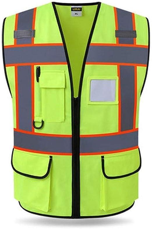 Lostgaming Chaleco Reflectante, Bicicleta Construcción Patrulla de Seguridad de Tráfico de la Policía Fluorescentes Traje Chalecos Reflectantes (Color : B, Size : 2 Packs): Amazon.es: Hogar