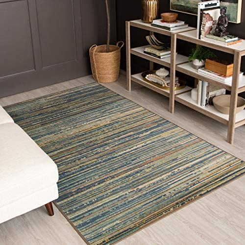 Mohawk Home Prismatic Santos Striped Printed Contemporary Area Rug