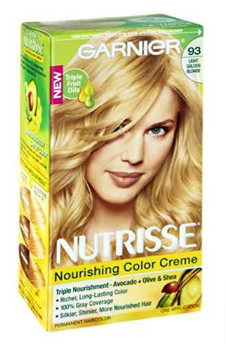 Garnier Nutrisse 93 Golden Light Blonde Couleur Crème Nourrissante Couleur de cheveux permanente, 1 CT (pack de 3)