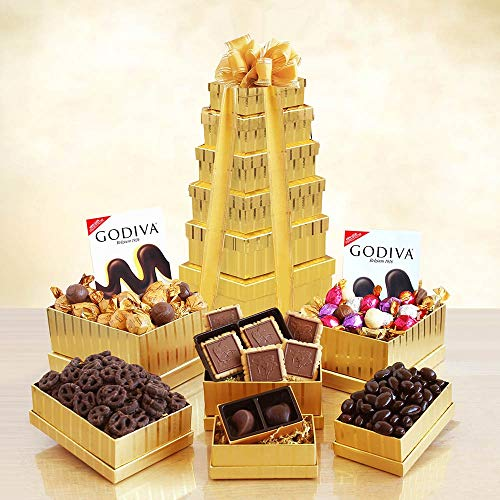 Golden Godiva Gift Tower by The Gift Basket Gallery (Image #1)