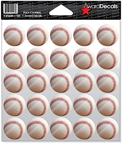 Award Decals Baseball Full Color Decals (100 -