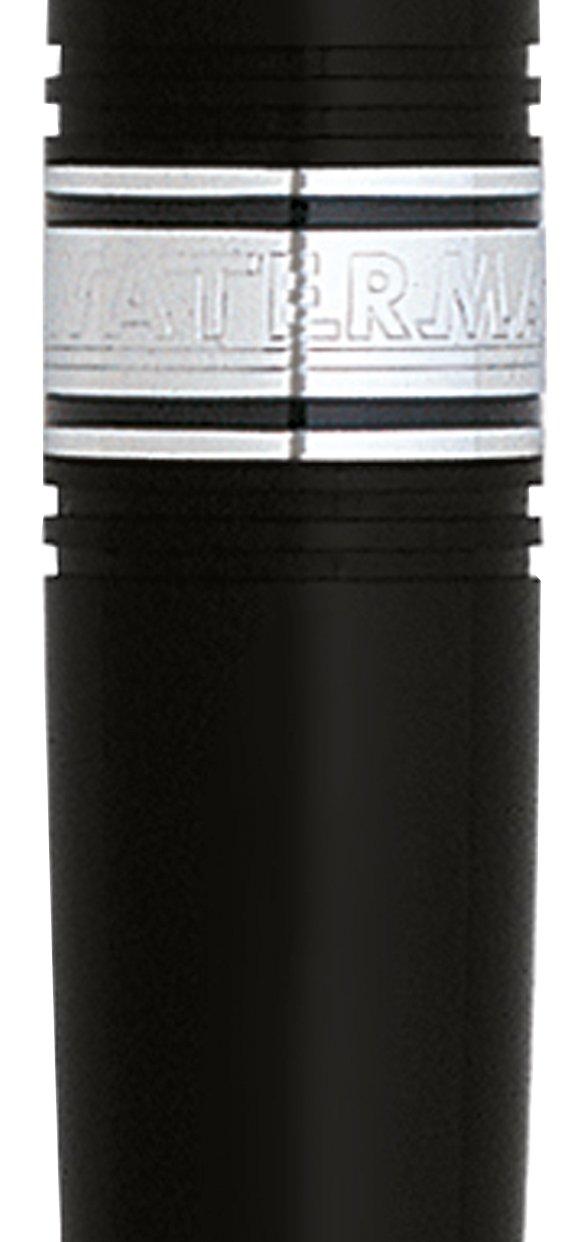 Waterman Charleston Black Chrome Trim Fountain Pen Fine, S0701030