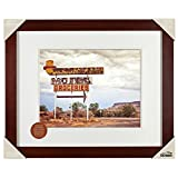 Gallery Solutions 16x20 Espresso Wall Picture Frame with Single White Mat For 11x14 Image #09FW2681. Includes Wall Grabber Hanging Hardware