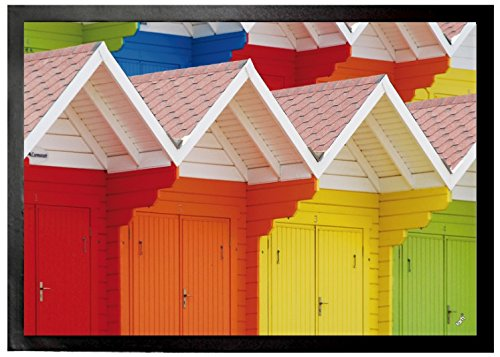 Huts Door Mat Floor Mat - Colourful Beach Huts in Scarborough, UK (28 x 20 ()