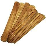 TrendBox 10pcs Handmade Plain Wood Wooden Incense Stick Holder Burner Ash Catcher Natural Design Buddhist