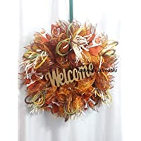 Welcome Fall Deco Mesh Seasonal Door Wreath, Home Decor {Handmade}
