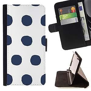 For Samsung Galaxy J3(2016) J320F J320P J320M J320Y Case , Modelo de punto blanco gris minimalista- la tarjeta de Crédito Slots PU Funda de cuero Monedero caso cubierta de piel