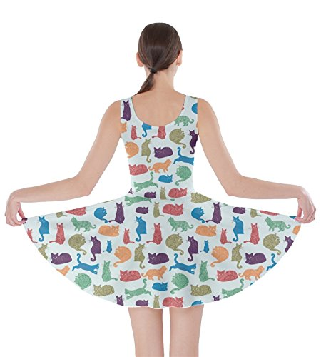 Cats XS CowCow 5XL Skater Colorful Dress Colorful Pattern Kitten Womens Lovely Tx7wP