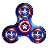 Captain America Shield Distressed Logo Fidget Spinner Toy Stress Reducer Perfect For ADD, ADHD, Anxiety And Autism Adult Children