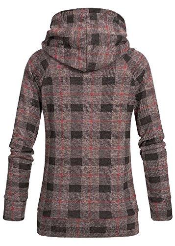 violet Fashion - Sudadera con capucha - para mujer fango braun rot melange schwarz