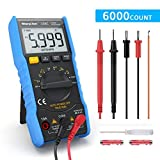 Digital Multimeter,TRMS 6000 Counts Manual and Auto Ranging;Pocket Size Flashlight Measures Voltage Tester,Current,Resistance,Continuity,Frequency;Tests Diodes,Transistors,Temperature (1)