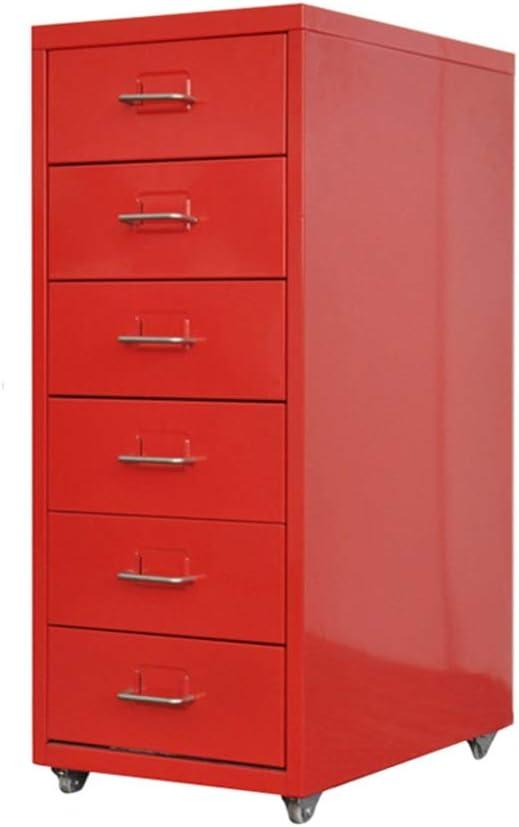 引き出しファイルキャビネットローキャビネットA4収納キャビネットデスクモバイルデータメタルキャビネットファイルアクティビティキャビネット (Color : Red, Size : 0.8mm)