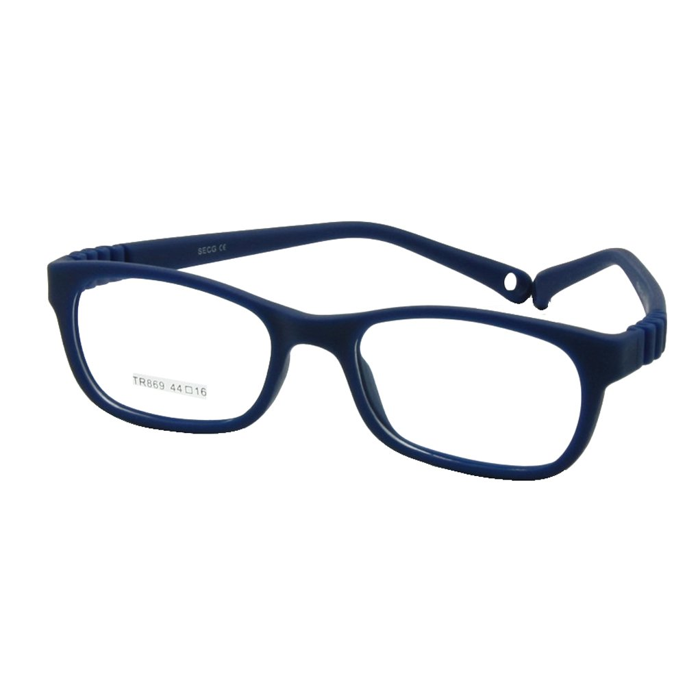 344d59305b68 Amazon.com  EnzoDate Children Glasses Frame with Strap No Screw 3-5Y Size  44 16 (Blue)  Health   Personal Care