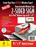 Blanks/USA Repositionable 2-Sided StickiSign (SS3A085OW)