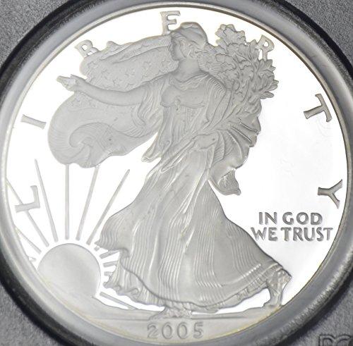 2005 W Silver American Eagle $1 PR-70 PCGS DCAM