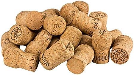50 Unidades de corchos de Vino espumoso Usados para Manualidades, decoración y Pasatiempos/Tapones de Botella de Corcho Natural/corchos de Vino espumoso/Corcho