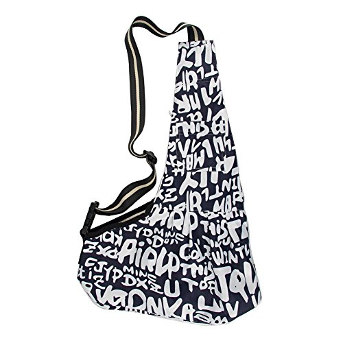 SODIAL(R) Blue & White Puppy Pet Dog Bag Carrier Single Shoulder Strip Sling Cloth Bag Tote for Medium Dog /Cat Outdoor