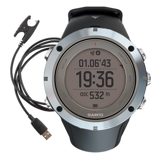 Suunto Ambit3 Peak GPS Watch (Sapphire with additional Power Cable Bundle (2 total included))
