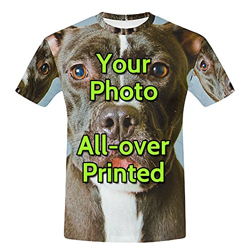 - Custom Men's Photo T Shirts 3D Allover Printed