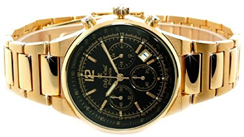 Oskar Emil Gents Phoenix 23K Gold Chronograph Sports Watch with Black Dial RRP $400