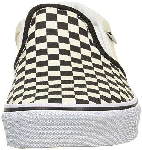 Vans Asher - Zapatilla Baja Niños Blanco (checkers/black/natural)