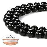 Best BEADNOVA Jewelry Supplies - BEADNOVA 8mm Black Onyx Gemstone Round Loose Beads Review
