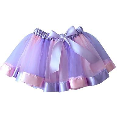 NiSeng Arco Iris Princesa Falda del Tutu Enagua Clásica de Ballet ...