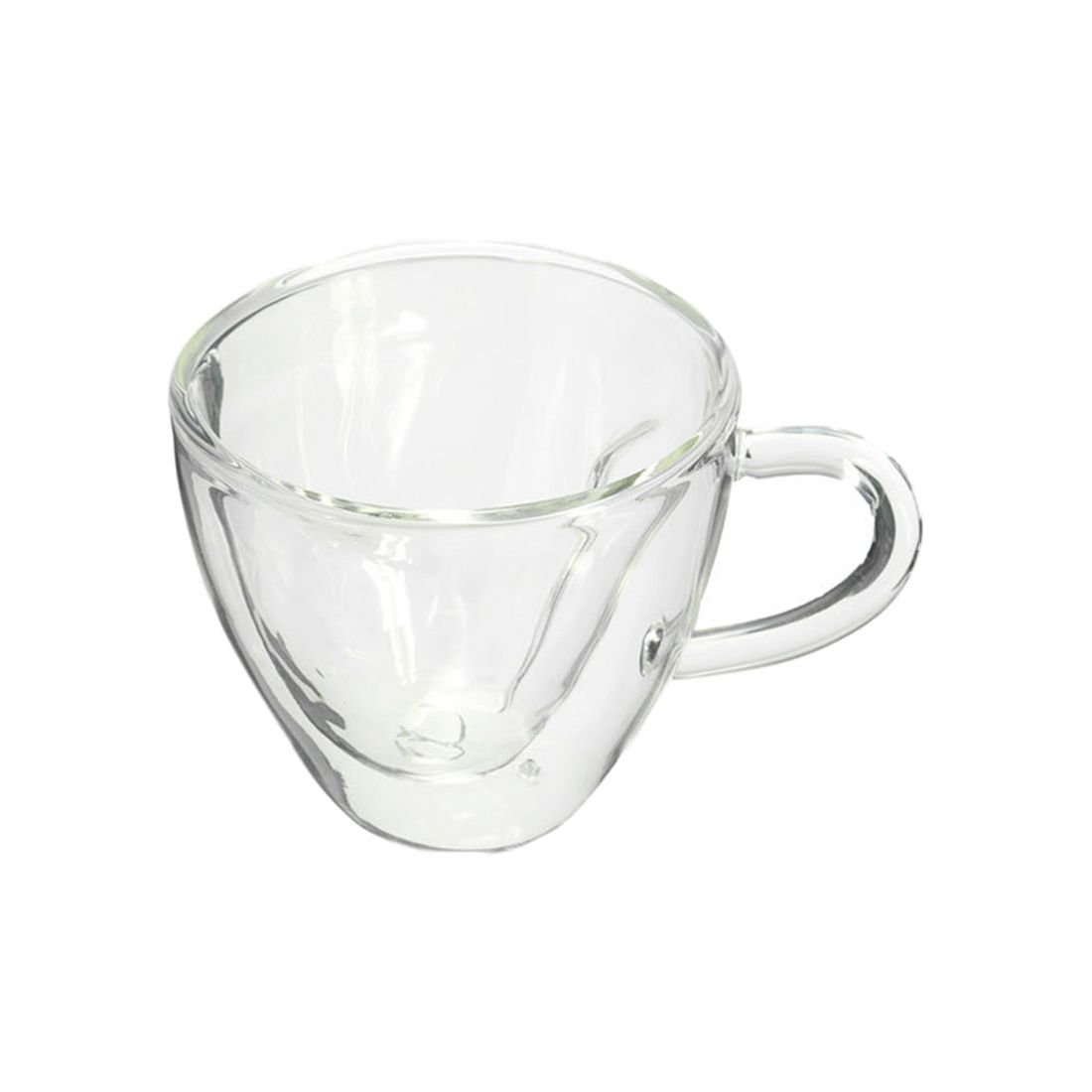 TOOGOO(R) Heart Shaped Heat Resistant Double Wall Layer Clear Glass Tea Cups Mug, 180Ml