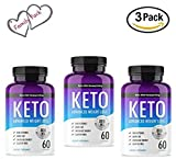 Keto Diet Advanced Fat Burner by Nuway Living -800MG - Burn Fat Instead of Carbs - Advanced Weight Loss Ketosis Supplement - 180 Capsules - 90 Days Supply (3 Pack)