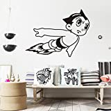 Fangeplus(TM) DIY Removable Black Astro Boy Janpanese Cartoon Art Mural Vinyl Waterproof Wall Stickers Kids Room Decor Nursery Decal Sticker Wallpaper 22.4x16.9(astro boy)