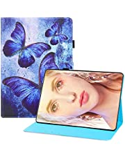 """Miagon for Samsung Galaxy Tab A T580/T585 {10.1""""} 2016 Case,PU Leather Folio Stand Wallet Smart Magnetic Cover with Card Slots Auto Wake/Sleep,Butterfly"""