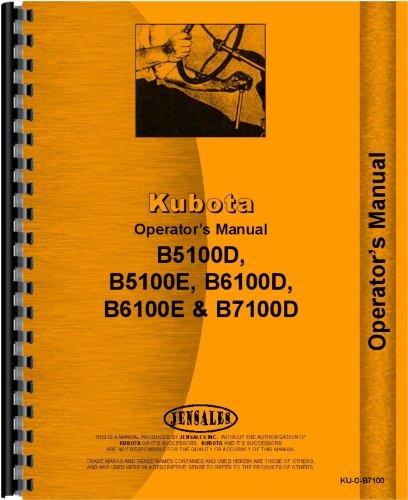 Kubota B7100D Tractor Operators Manual by Jensales