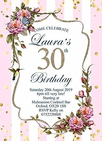 10 x invitaciones para adultos fiesta de cumpleaos invitaciones