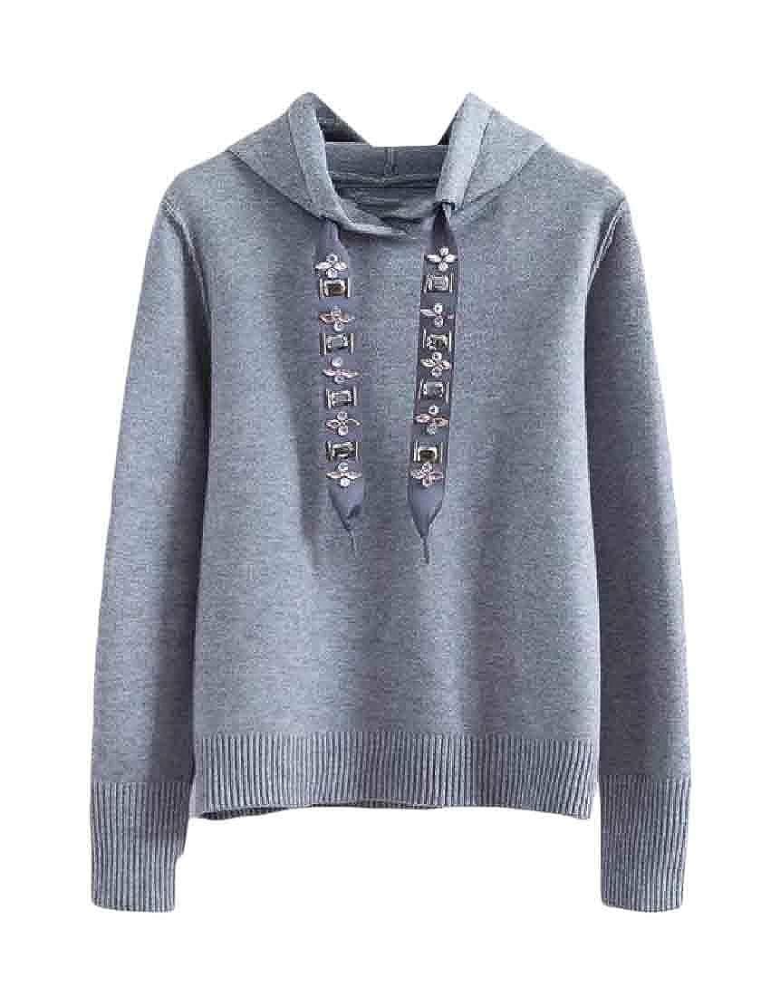 Etecredpow Womens Hoodie Pullover Long-Sleeve Tops Sweatshirts