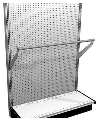 Lozier Store Fixtures TVHANGRODUP414 48 x 14 in. Upsloped Hang Rod (Lozier Fixtures Store)