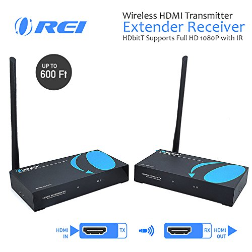OREI Wireless HDMI Transmitter Extender Receiver HDbitT Supports Full HD 1080P with IR - Upto 600 FT