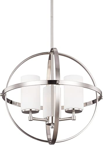 Decovio 16480-BNEW3 Smithtown 3 Light 19 inch Brushed Nickel Chandelier Ceiling Light
