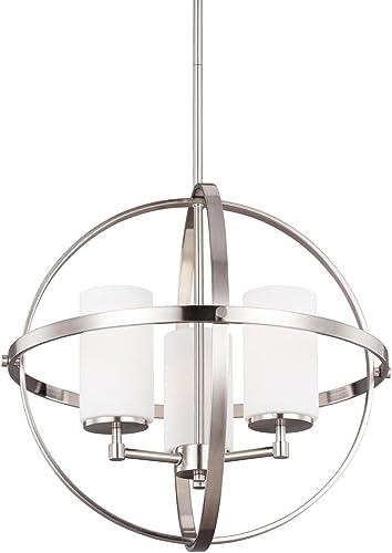 Decovio 16480-BNEW3 Smithtown 3 Light 19 inch Brushed Nickel Chandelier Ceiling Light