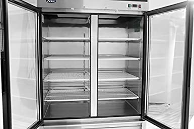 Amazon.com: Atosa MCF8703 Bottom Mount (2) Two Glass Door Freezer: Industrial & Scientific