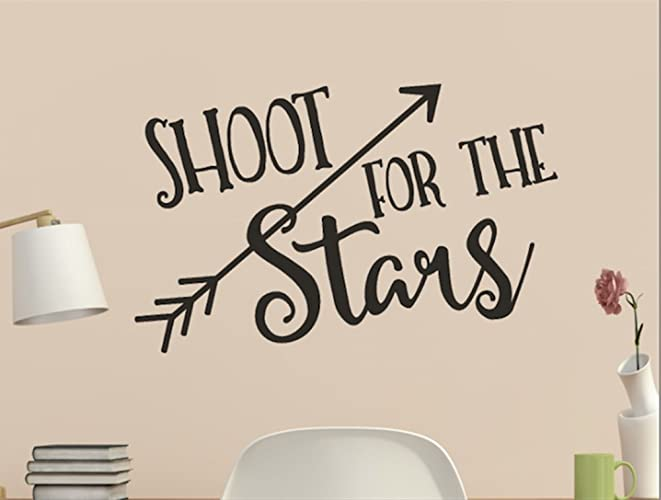 Amazoncom Shoot For The Stars With Arrow Wall Quote Vinyl Decal