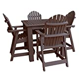 Highwood 5 Piece Hamilton Square Counter Height Dining Set, Weathered Acorn