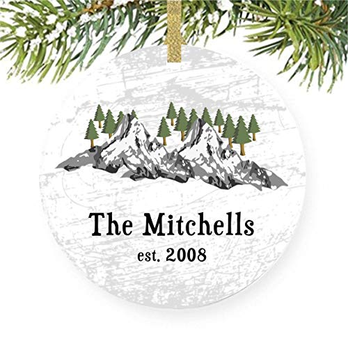 Mountains with Trees Christmas Tree Ornament, Colorado Skiing, Mountain Biking, Rocky & Appalachian