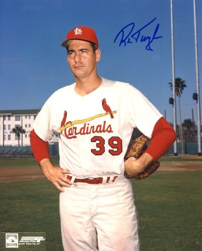 (Ron Taylor Autographed/ Original Signed 8x10 Color Photo Showing Him with the St. Louis Cardinals)