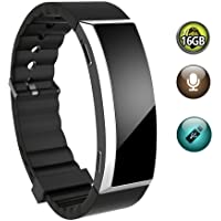 Voice Recorder Watch,Portable 16GB Sound Voice Activated Recorder Wrist Bracelet Recorder for Lectures Meetings(Black)