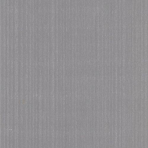 HANMERO 10m Flocking Contemporary Simple Design Vertical Narrow Stripes Non Woven Wallpaper Rolls Solid Color for Bathroom Silver Gray - Gray Stripe Wallpaper